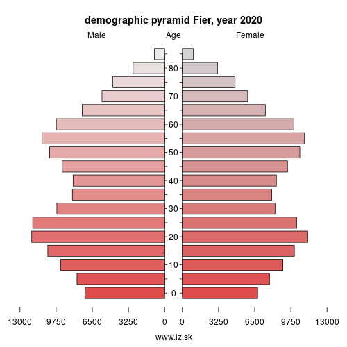 demographic pyramid AL032 Fier