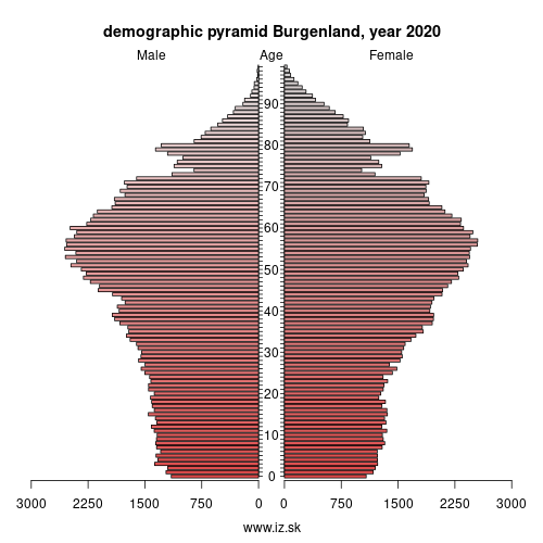 demographic pyramid AT11 Burgenland