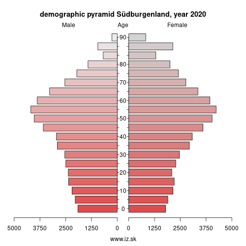 demographic pyramid AT113 Südburgenland