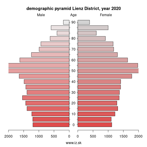 demographic pyramid AT333 Osttirol
