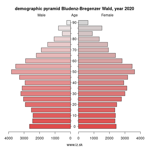 demographic pyramid AT341 Bludenz-Bregenzer Wald