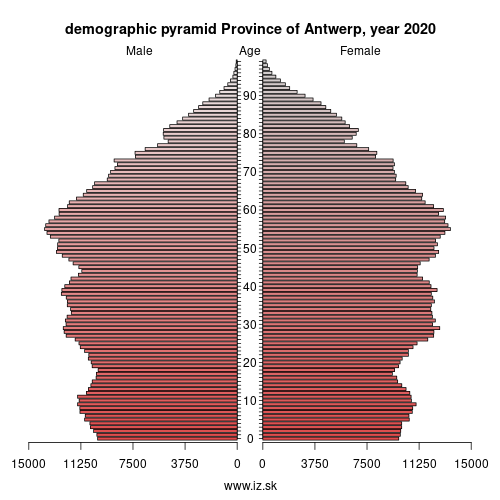 demographic pyramid BE21 Antwerp