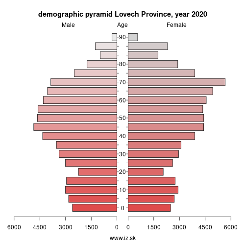 demographic pyramid BG315 Lovech Province