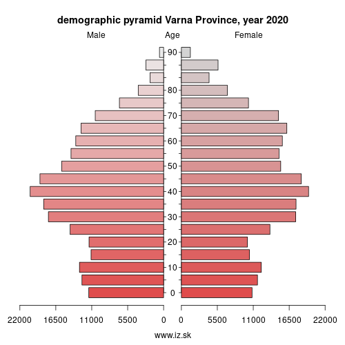 demographic pyramid BG331 Варна