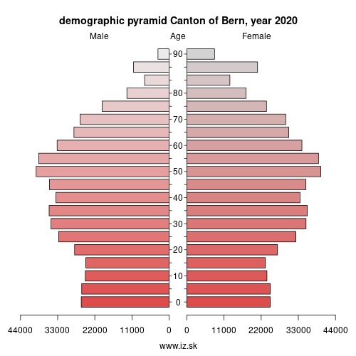 demographic pyramid CH021 canton of Bern