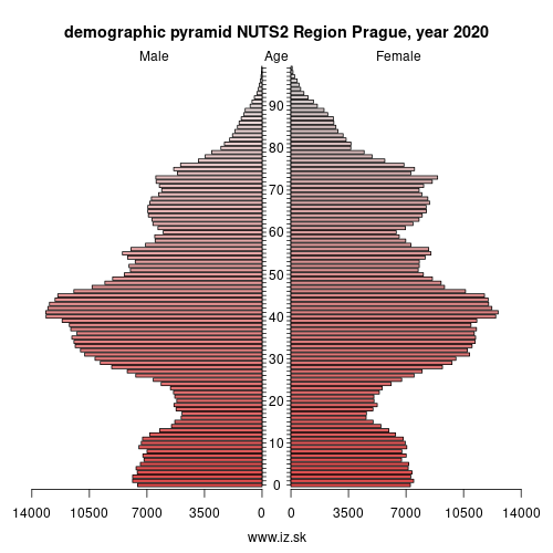 demographic pyramid CZ01 Prague