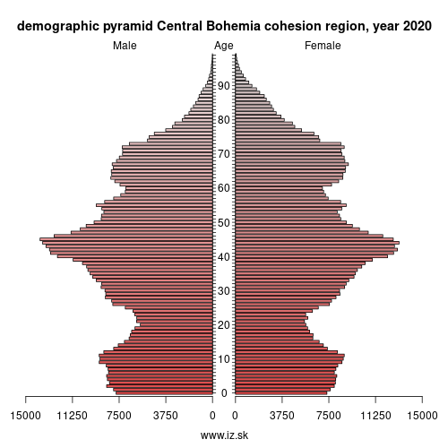 demographic pyramid Central Czechia,