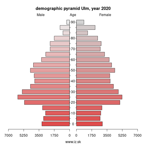 demographic pyramid DE144 Ulm