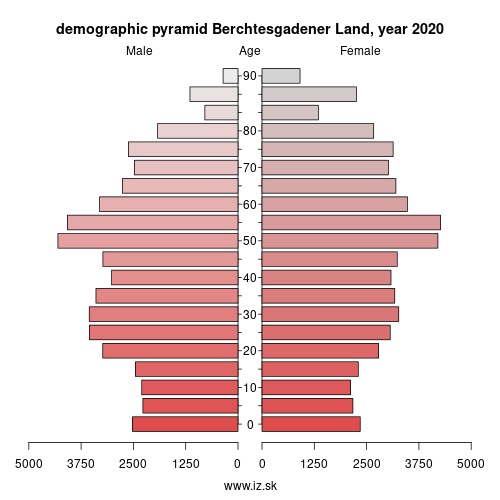 demographic pyramid DE215 Berchtesgadener Land