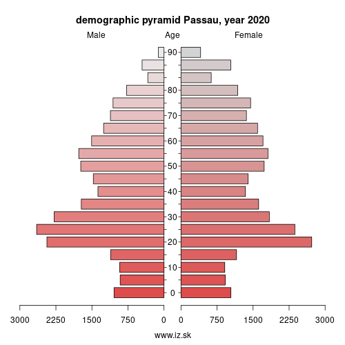demographic pyramid DE222 Passau