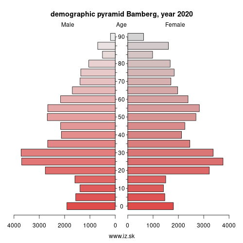 demographic pyramid DE241 Bamberg