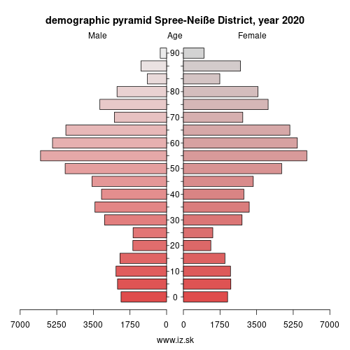 demographic pyramid DE40G Spree-Neiße District