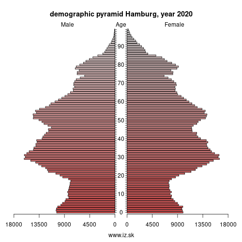 demographic pyramid Hamburg,