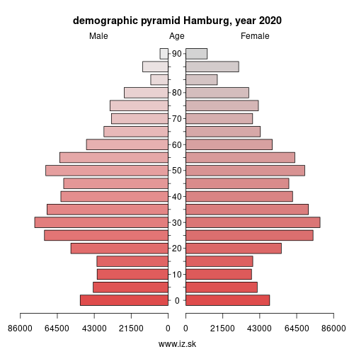 demographic pyramid DE600 Hamburg