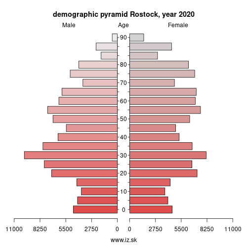 demographic pyramid DE803 Rostock