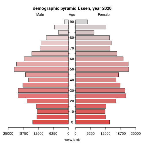 demographic pyramid DEA13 Essen