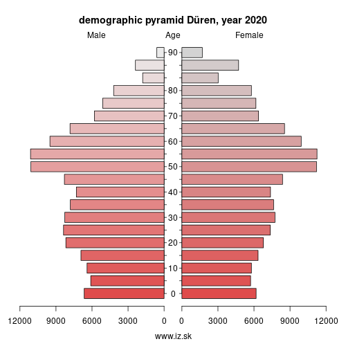 demographic pyramid DEA26 Düren