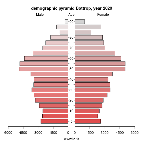 demographic pyramid DEA31 Bottrop