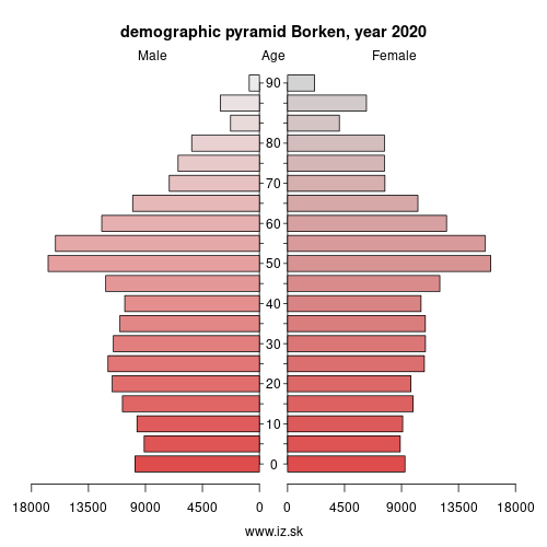 demographic pyramid DEA34 Borken