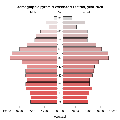 demographic pyramid DEA38 Warendorf District