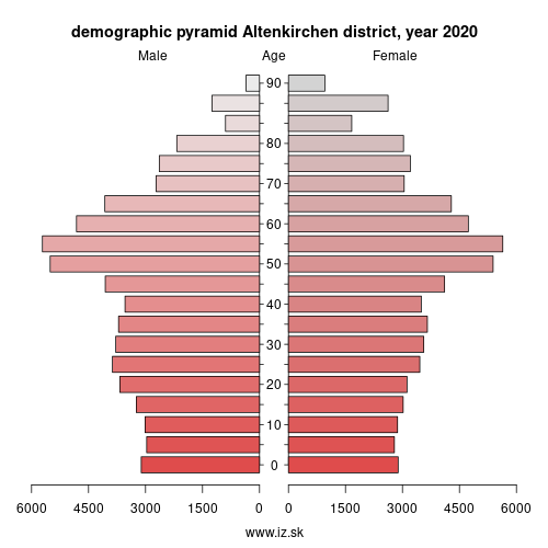 demographic pyramid DEB13 Altenkirchen district