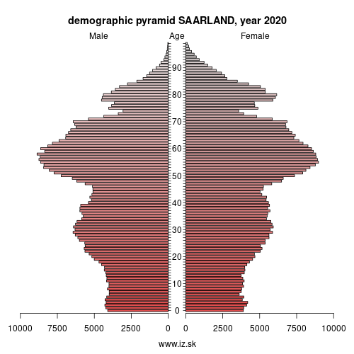 demographic pyramid DEC SAARLAND