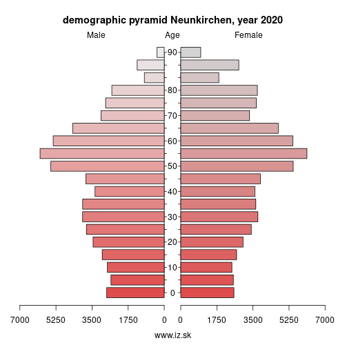 demographic pyramid DEC03 Neunkirchen