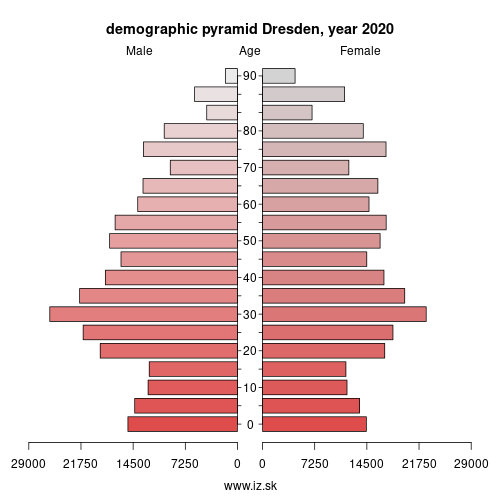 demographic pyramid DED21 Dresden