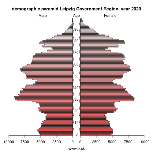 demographic pyramid DED5 Leipzig Government Region