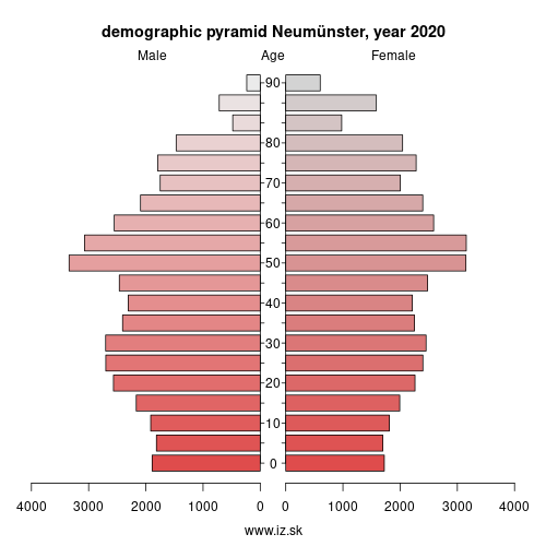 demographic pyramid DEF04 Neumünster