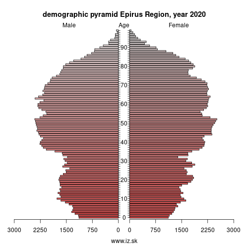 demographic pyramid EL54 Ήπειρος