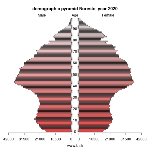 demographic pyramid NORESTE,
