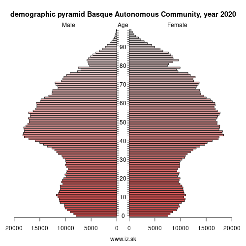 demographic pyramid ES21 Basque Country