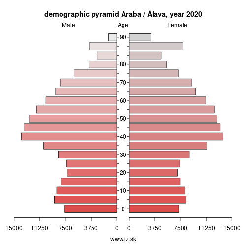 demographic pyramid ES211 Araba / Álava