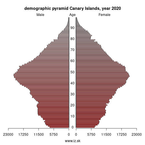 demographic pyramid ES7 Canary Islands