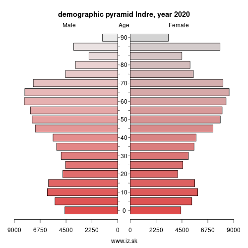 demographic pyramid FRB03 Indre