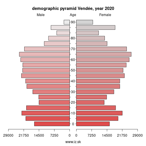 demographic pyramid FRG05 Vendée