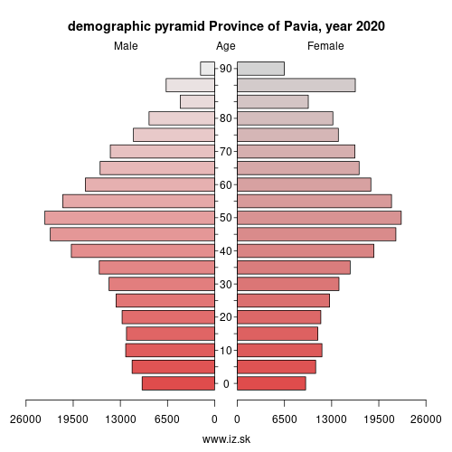 demographic pyramid ITC48 Province of Pavia