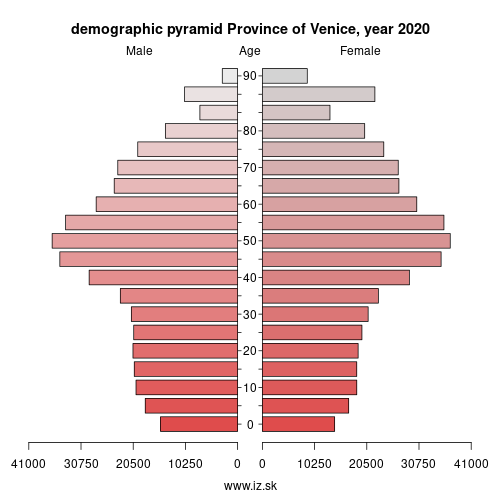 demographic pyramid ITH35 Province of Venice