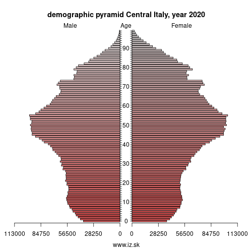 demographic pyramid ITI Central Italy