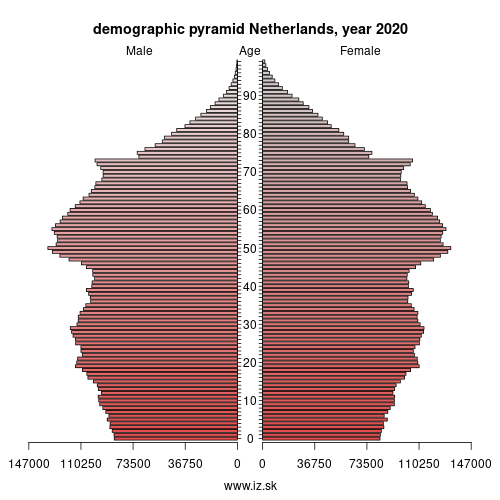 demographic pyramid NL Netherlands