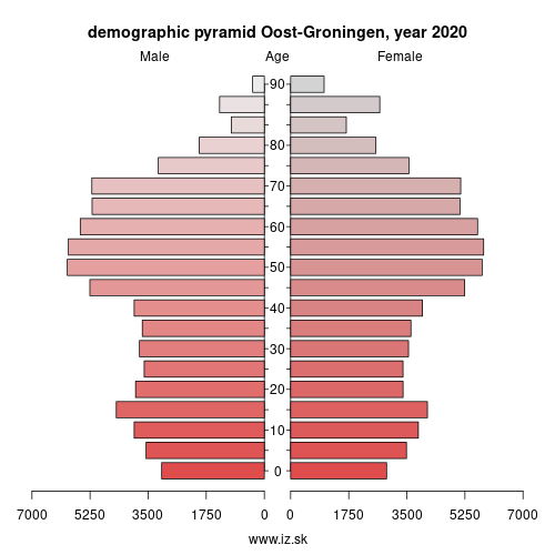 demographic pyramid NL111 Oost-Groningen
