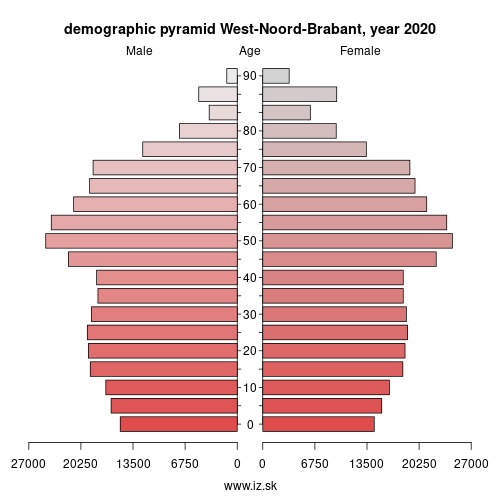 demographic pyramid NL411 West-Noord-Brabant