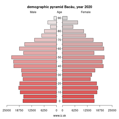 demographic pyramid RO211 Bacău
