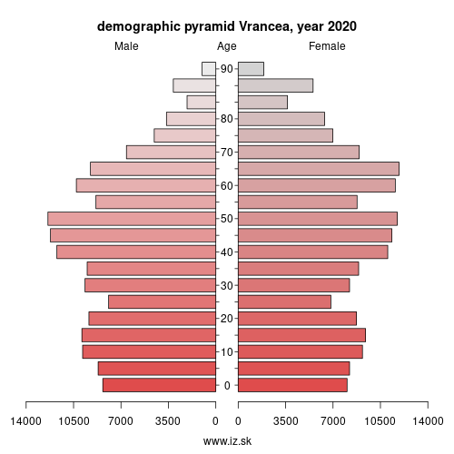 demographic pyramid RO226 Vrancea