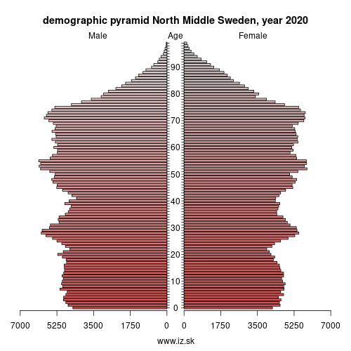 demographic pyramid SE31 Norra Mellansverige