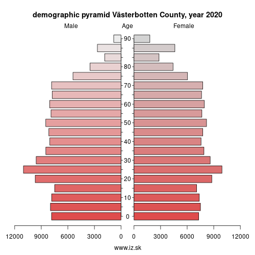demographic pyramid SE331 Västerbotten County