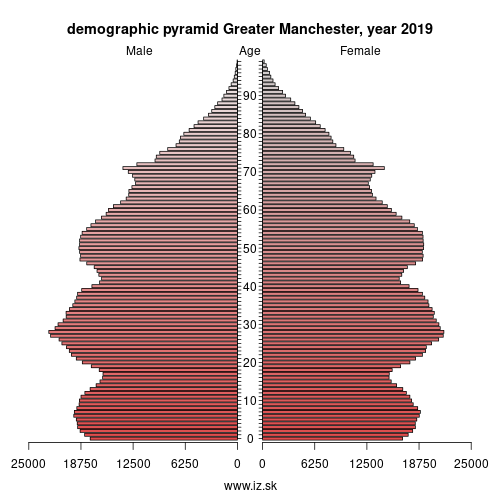 demographic pyramid UKD3 Greater Manchester