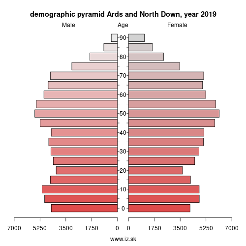 demographic pyramid UKN09 Ards and North Down