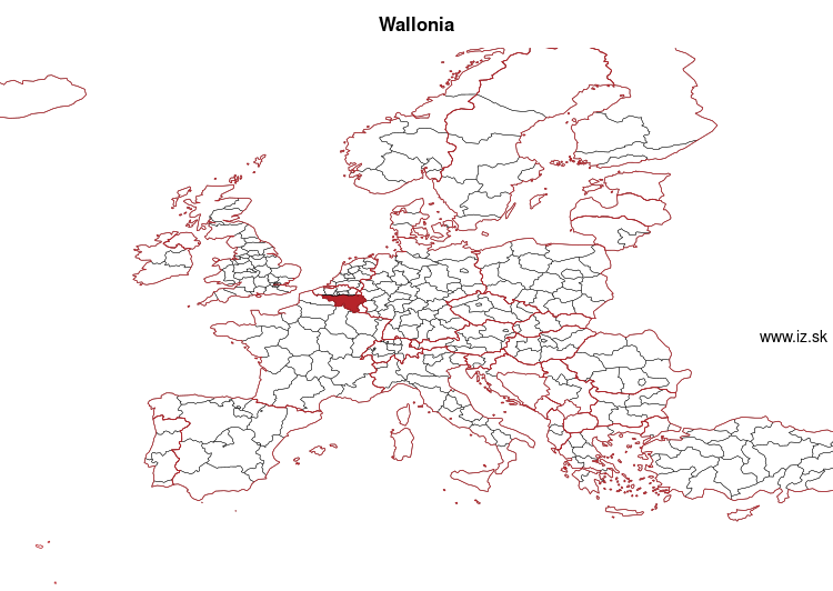 map of Wallonia BE3